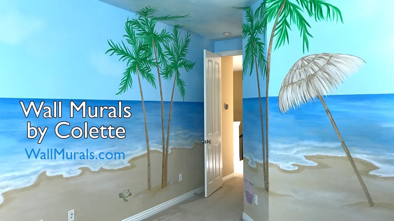 Painted Beach Wall Mural Los Angeles CA YouTube