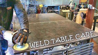 Keeping the WELDING TABLE clean, shiny & smooth