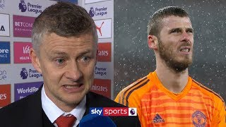 Ole Gunnar Solskjaer reacts to David De Gea's mistake against Arsenal