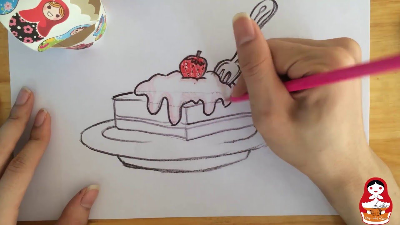 How to draw a piece of cake | How to draw tutorials | Draw With ... for Drawing Cake Slice  45jwn