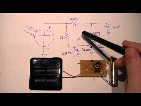 Minimal Solar Night Light Circuit