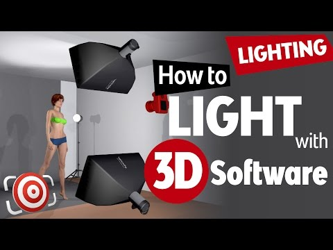 Learn portrait lighting with 3D software.  Studio Lighting Tutorial with set.a.light 3D