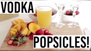 Strawberry Peach Boozy Popsicle Recipe