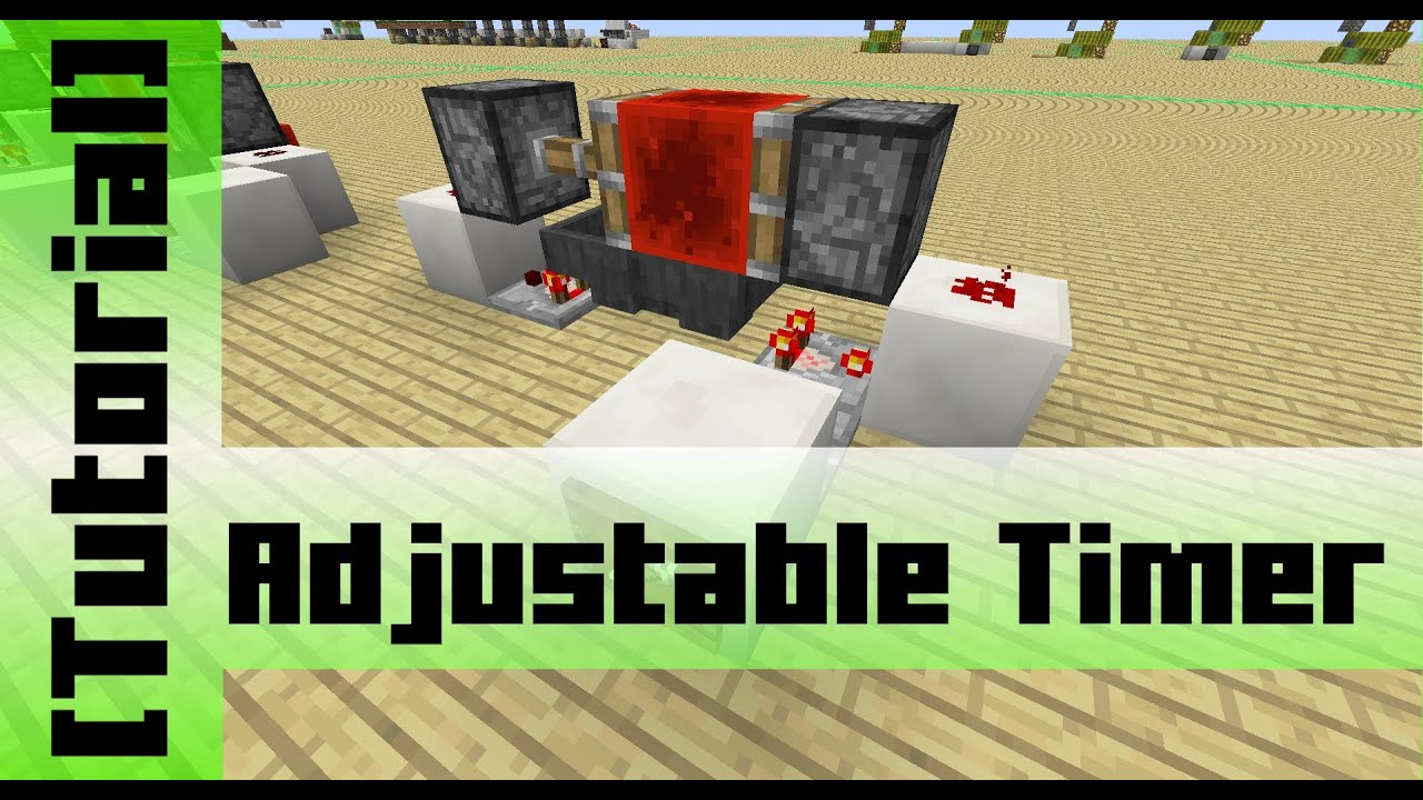 Adjust Timer By Redstone Signal Tutorial Youtube Related To Minecraft How Create A Repeating Circuit