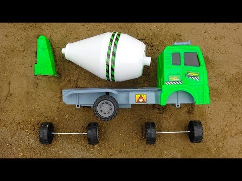 Construction Vehicle Toy Assembly Video for Kids Cars Carrying Animals Concrete Mixer - I177P