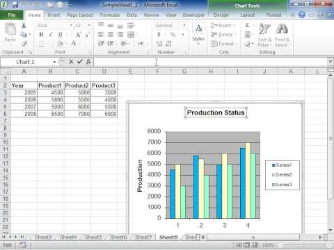 Excel 2010 link a chart or axis title to a worksheet cell youtube excel 2010 link a chart or axis title to a worksheet cell ccuart Gallery