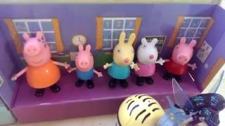 peppa pig and he s friends mom dad little brother at home fun for kids toys