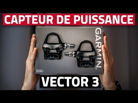 Test CAPTEUR De PUISSANCE   GARMIN VECTOR 3 (pour Gagner En Puissance A Vélo)