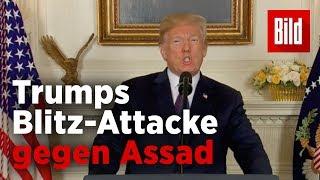 Mit 120 Raketen: USA, Frankreich und Großbritannien attackieren Syrien