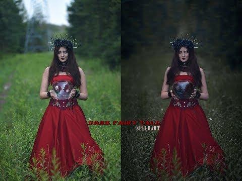 Dark fairy tale photoshoot editing [Speed art]