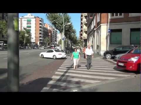 Walking in Barcelona,