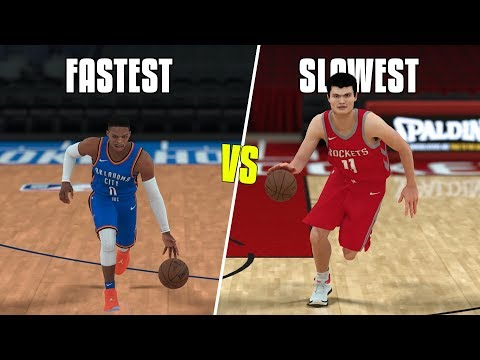 Fastest NBA Player Vs Slowest NBA Player Of All Time | NBA 2K18 Challenge |