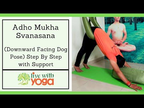 Adho Mukha Svanasana [Step By Step] With Support | Therapy Iyengar Yoga