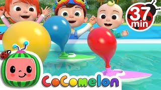 Balloon Boat Race + More Nursery Rhymes & Kids Songs - CoComelon