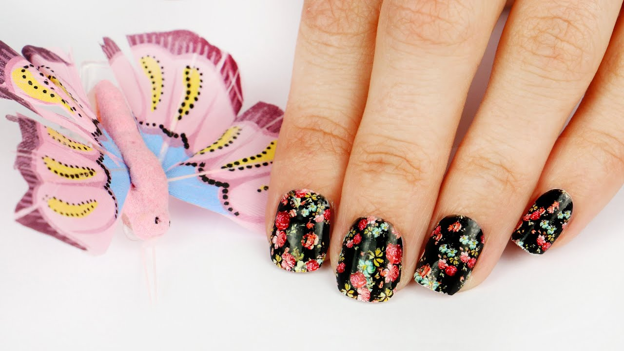 Easy floral nail art for summer youtube easy floral nail art for summer prinsesfo Images