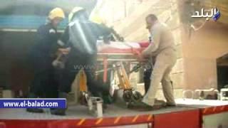 بالفيديو والصور .. أهالى ميت عساس بالغربية يشيعون جثمان شهيد الشرطة فى سيناء