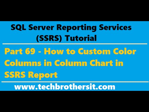 SSRS Tutorial 69 - How to Custom Color Columns in Column Chart in SSRS Report