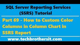 SSRS التعليمي 69 - كيفية لون مخصص الأعمدة في عمود الرسم البياني في تقرير SSRS