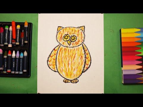 """Урок рисования для детей """"СОВА🦉""""^Как нарисовать СОВУ"""