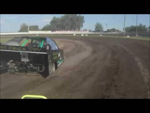 Redwood falls speedway heat 1 in car video 6/5/16