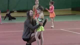 Выступление Ани Зинович в открытых соревнованиях по художественной гимнастике 05.04.2015
