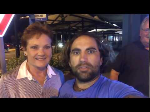 Ask Pauline Hanson for a selfie 'say...I'm a racist'