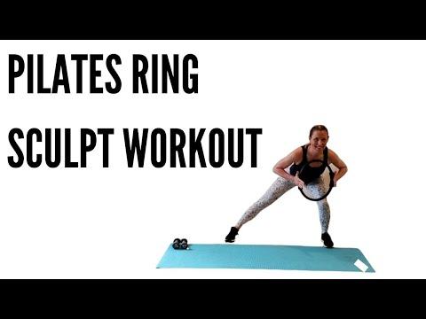 PILATES RING SCULPT WORKOUT (FULL BODY W/DUMBBELLS)