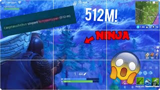 512m - FORTNITE BATTLE ROYALE World Record SNIPE HUNTING RIFLE Against Ninja!