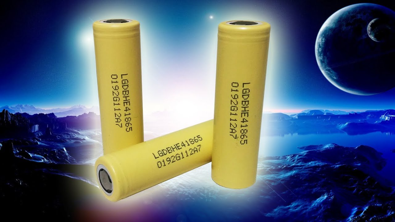 LG HE4 3.7V 18650 2500mAh Rechargeable Lithium-ion amarilla .
