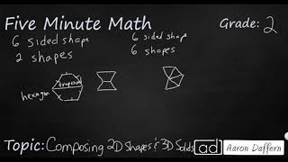 2nd Grade Math Composing 2D Shapes and 3D Solids