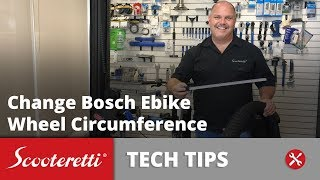 How To Change Wheel Circumference On Bosch Electric Bike