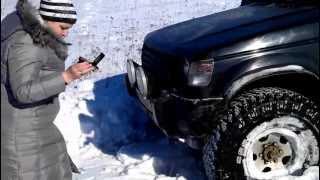 Pajero в снегу на 35 Cooper STT