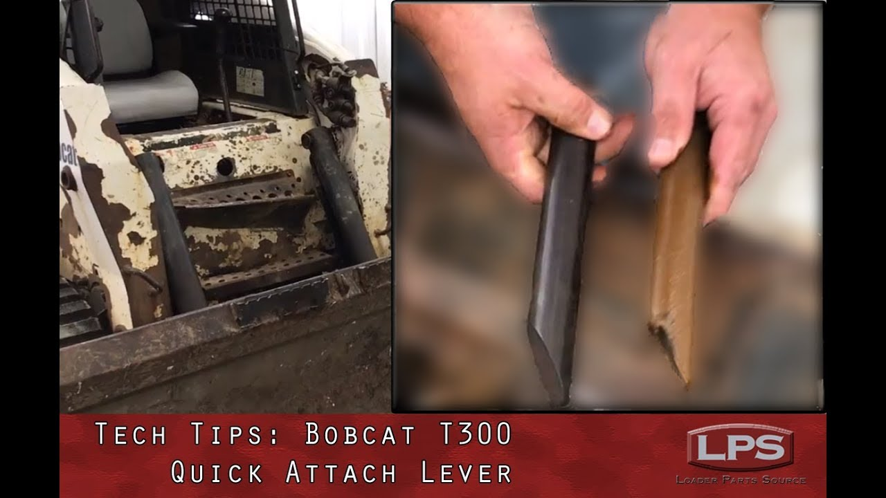 how to: replace bobcat t300 quick attach lever kit  loader parts source