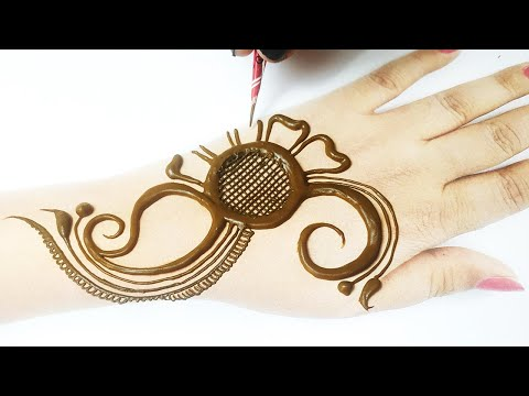 Easy Eid Special Mehndi Trick | Fullhand Arabic Mehndi Design from  Number 3
