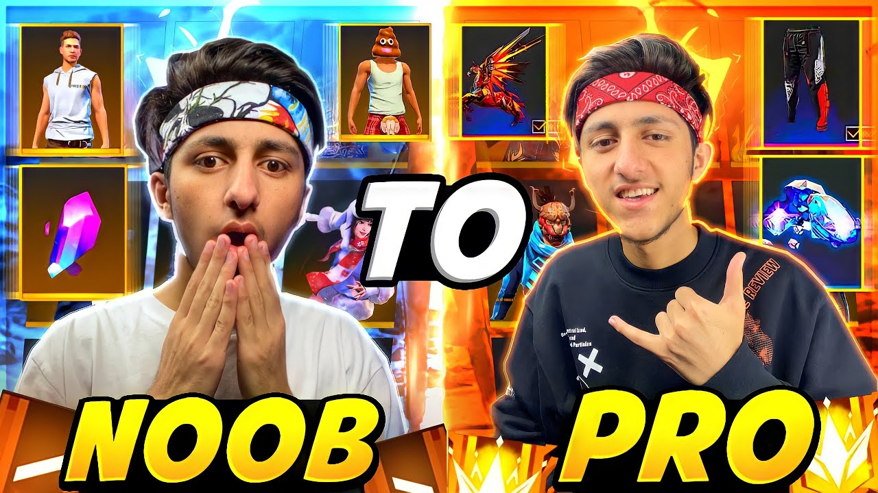 Noob Collection To Pro Using 12,000 + Diamonds 💎 In 10 Minutes Free Fire - Garena Free Fire