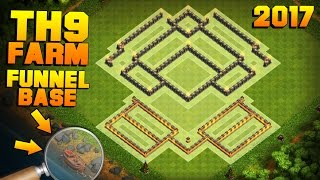 BEST TH9 FARMING BASE 2017 + PROOF! | NEW BASE W/ THE BOAT! Epic CoC Update Coming | Clash of Clans