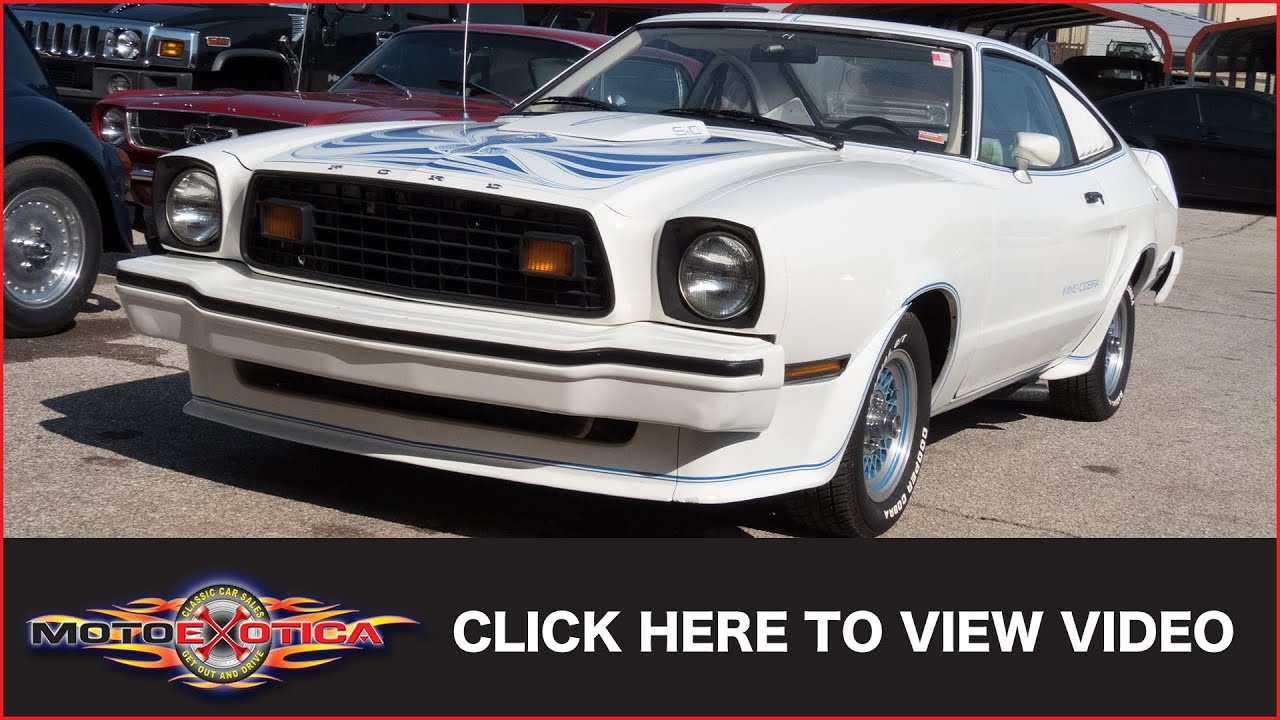 Ford Mustang Ii King Cobra Sold Youtube