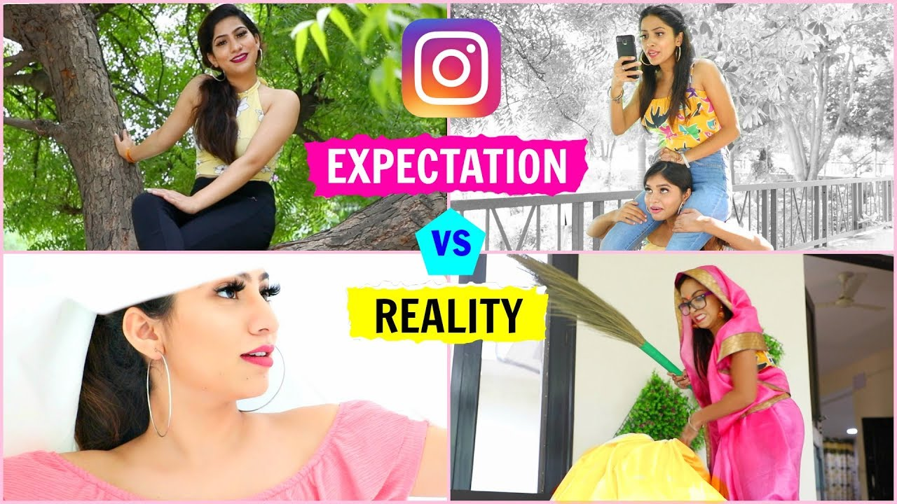 INSTAGRAM - Expectation vs Reality | Hacks & Tricks for Perfect Pictures | #Fun #Anaysa