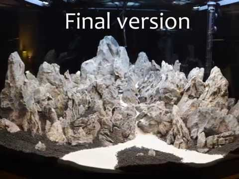 Aquascaping:Fluval Venezia 350 Hardscape making (September 2016)