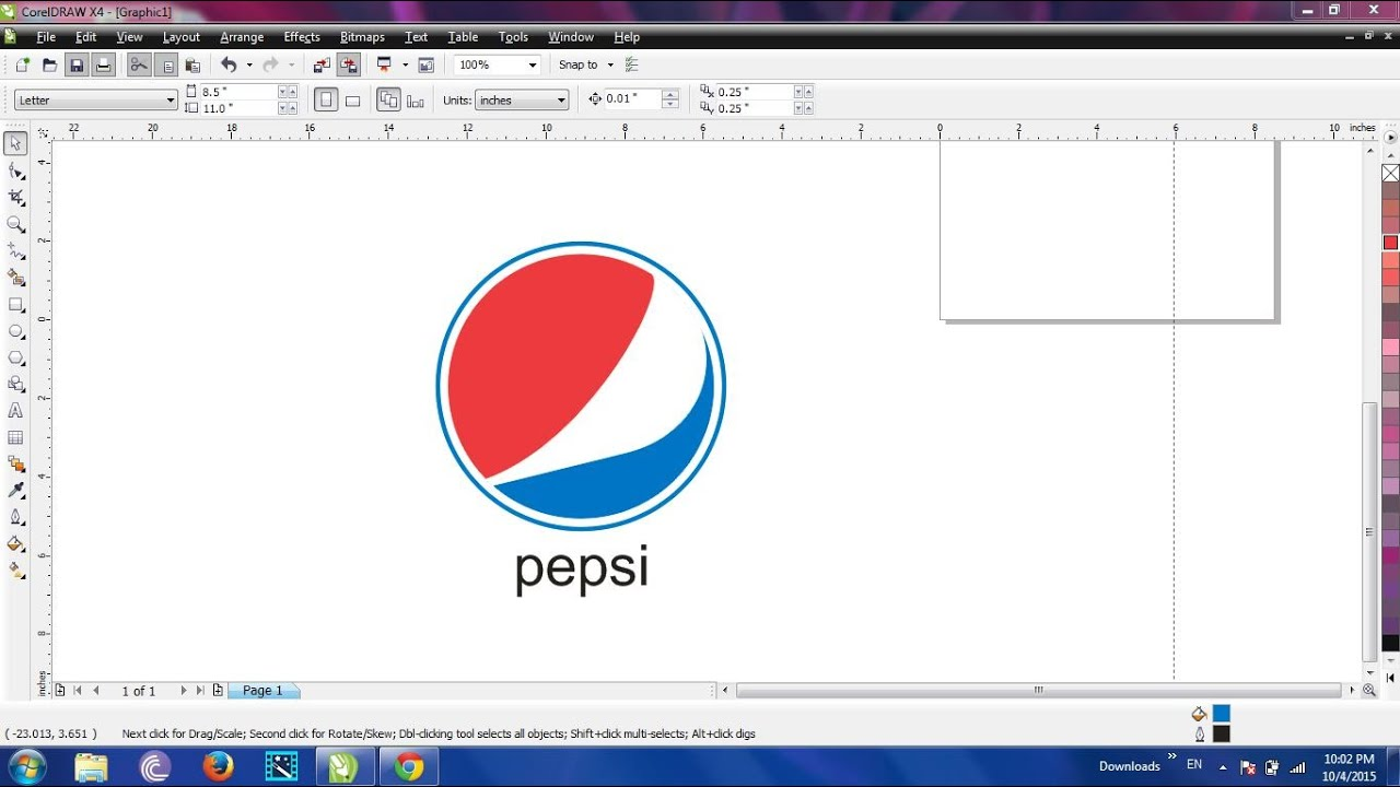 How To Make Pepsi Logo In Corel Draw Youtube