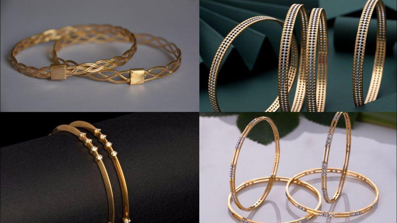 Regular Wear Gold Bangles Design || Simple Gold Bangle Design