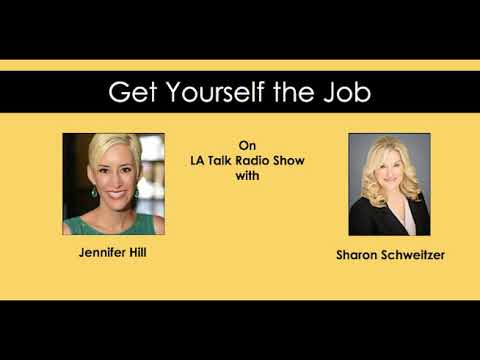 Image result for get yourself the job on LA talk radio show with jennifer hill and sharon schweitzer
