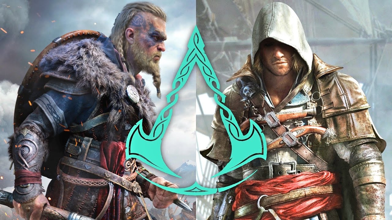 Assassin S Creed Valhalla Edward Kenway And Eivor The Viking