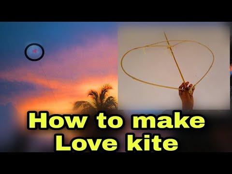how-to-make-love-kite-  -beautiful-love-kite- -heart-kite- sarungal-hadana-hati sarungal -wishma