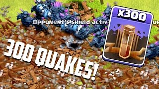 Clash of Clans - 300 EARTHQUAKE SPELLS! RIP Walls