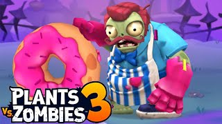Plants vs. Zombies 3 - Gameplay Walkthrough Part 4 - Pine Needler VS Donut Roller (Theater Zombie)
