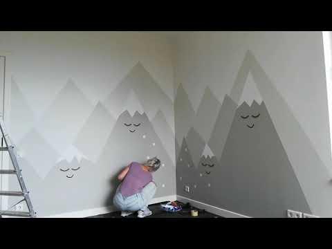 Mountains in children's room. Wall Art by Alexandra Lorelei. Estonia