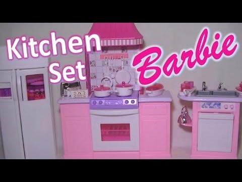 Barbie Gloria Kitchen Set Furniture for Dreamhouse Play Toy