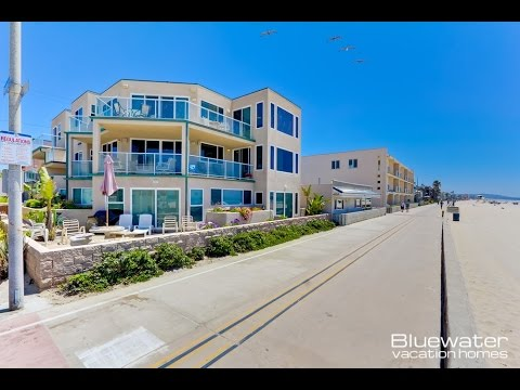 Mission Beach Vacation Rental at 3779 Ocean Front Walk in San Diego