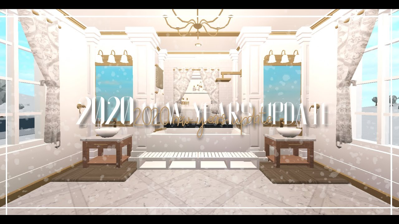 2020 New Years Update Mini Bathroom Design Hvneycomb Roblox Welcome To Bloxburg Youtube